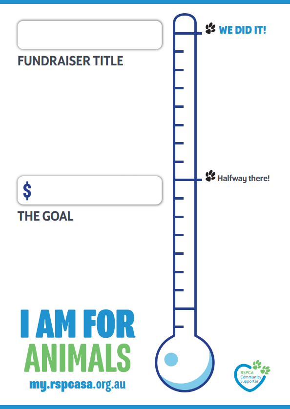 Fundraising Tracking Poster
